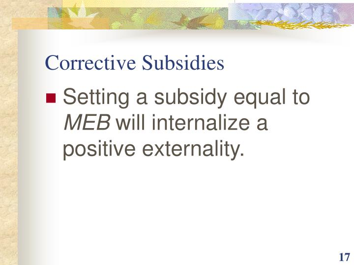 Corrective Subsidies
