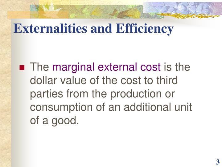 Externalities and Efficiency