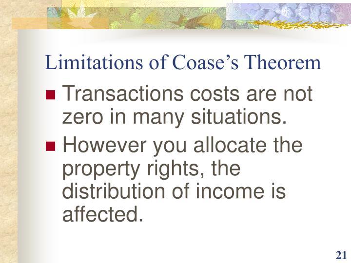 Limitations of Coase's Theorem