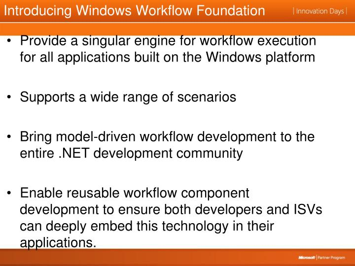 Introducing Windows Workflow Foundation
