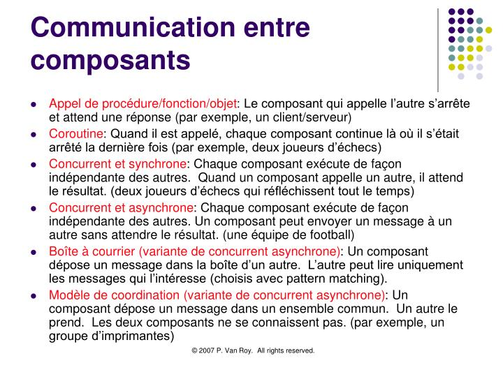 Communication entre composants