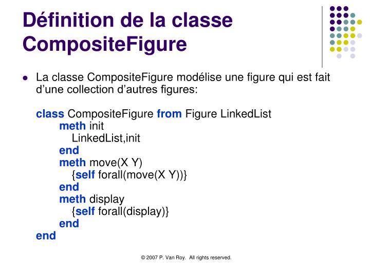 Définition de la classe CompositeFigure