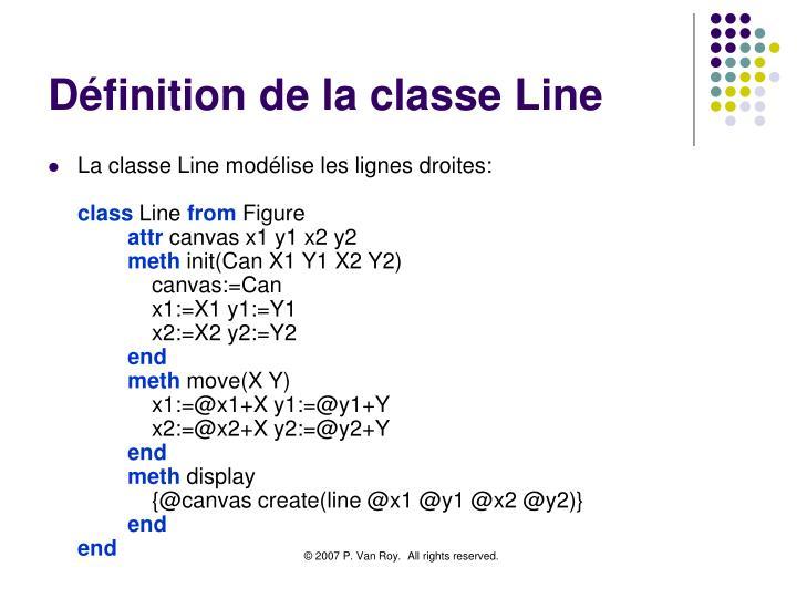 Définition de la classe Line