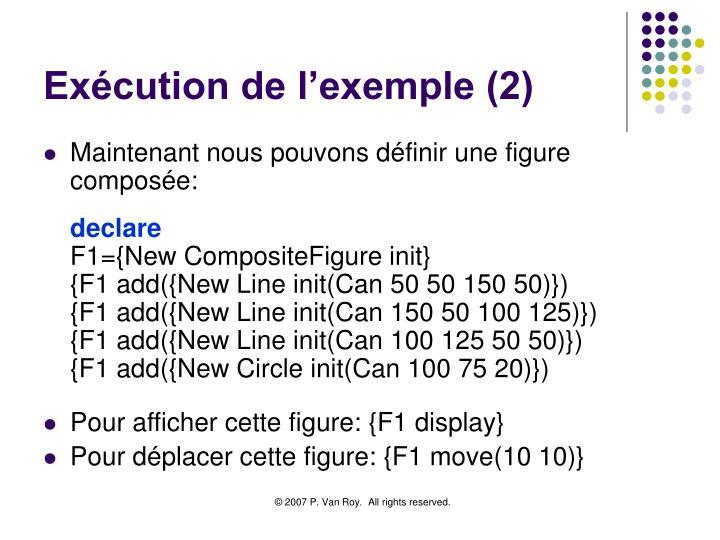 Exécution de l'exemple (2)