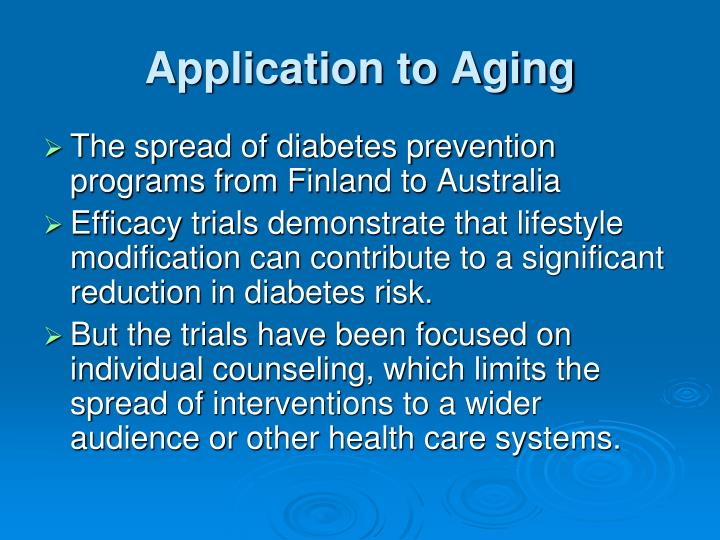 Application to Aging