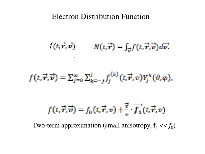 Electron Distribution Function