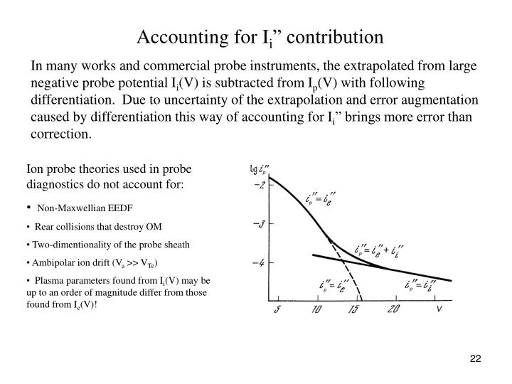 Accounting for I