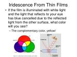 iridescence from thin films4