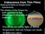 iridescence from thin films5