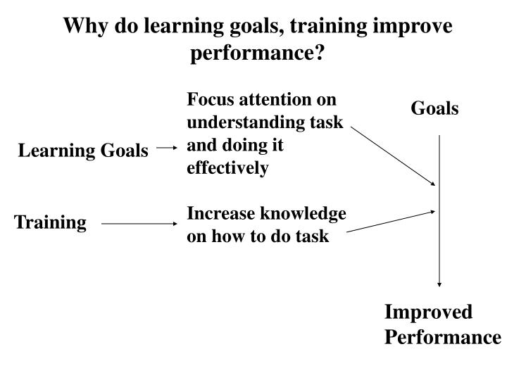 Why do learning goals, training improve performance?