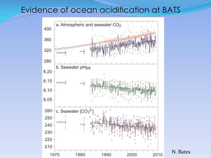 Evidence of ocean