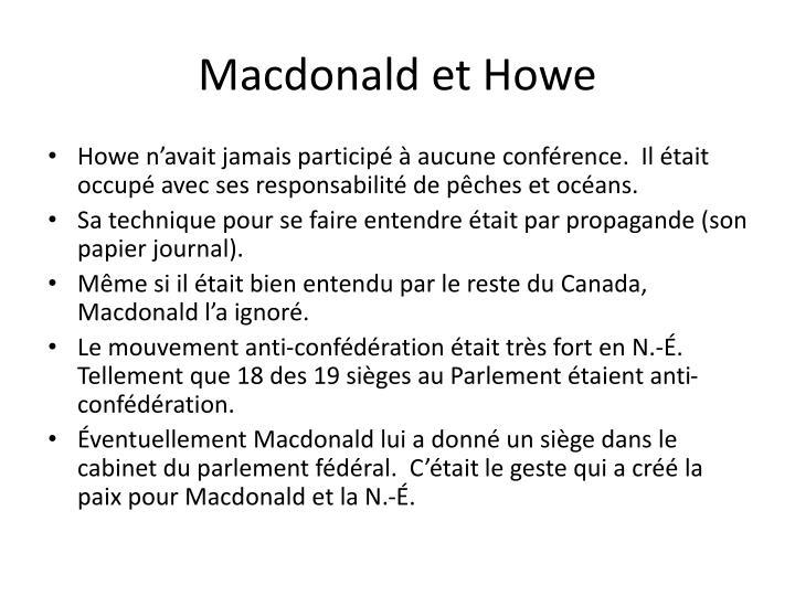 Macdonald et Howe