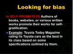 looking for bias1
