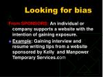looking for bias3