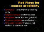 red flags for source credibility