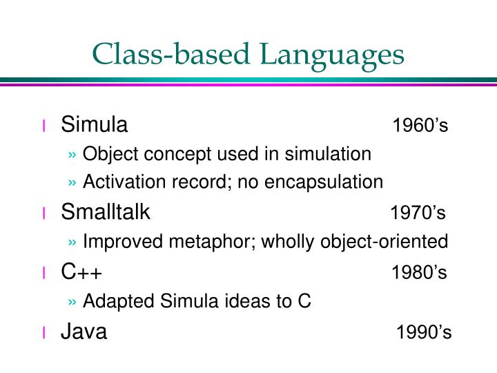 Class-based Languages