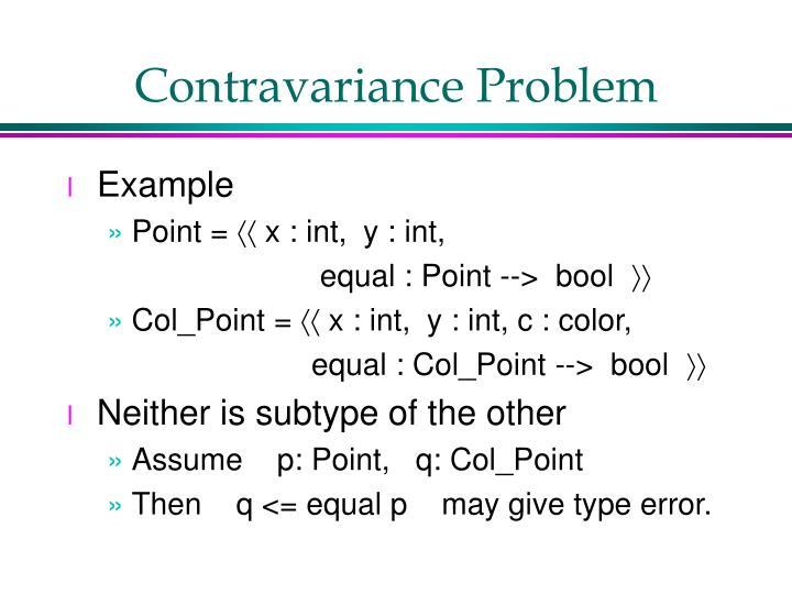 Contravariance Problem