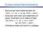 contravariant specialization