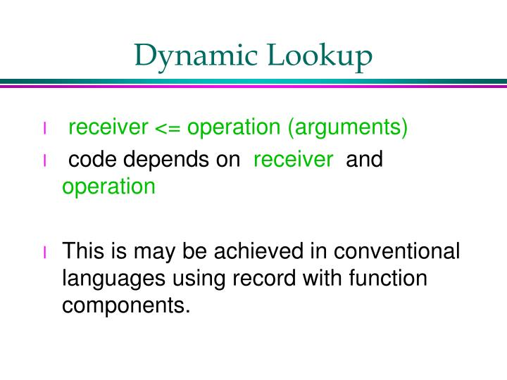 Dynamic Lookup