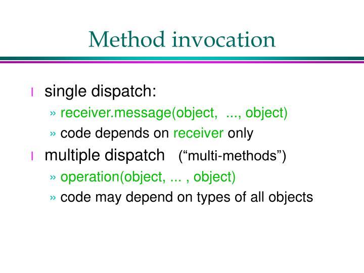 Method invocation