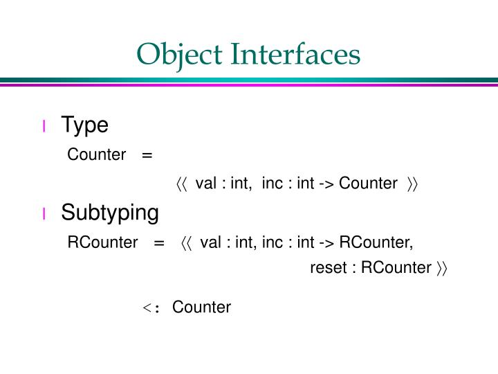 Object Interfaces