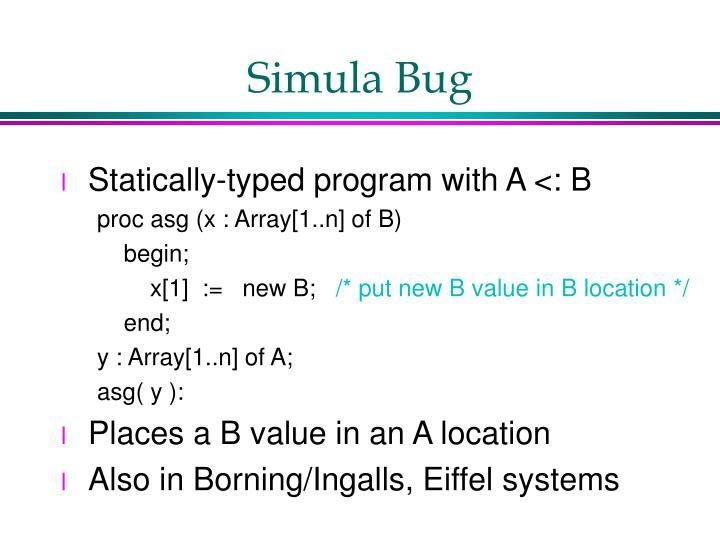 Simula Bug