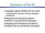 summary of part iii