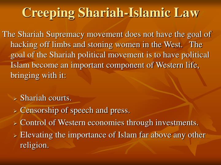 Creeping Shariah-Islamic Law