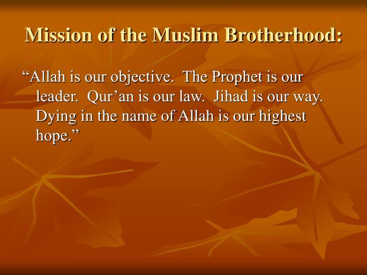 Mission of the Muslim Brotherhood: