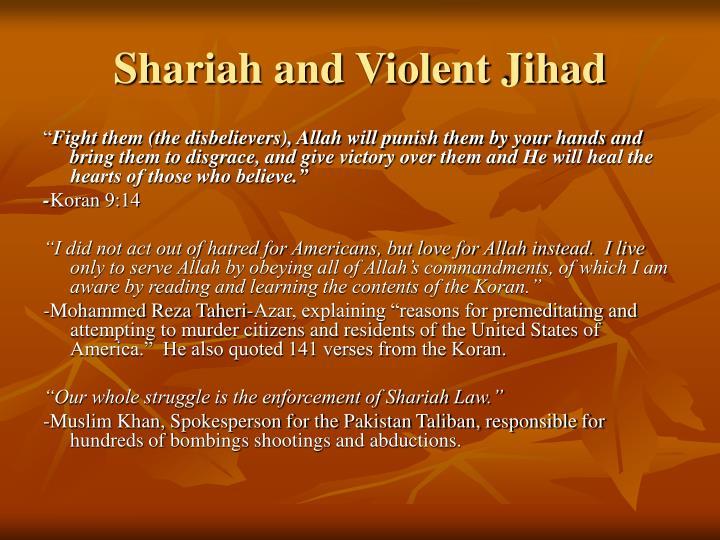 Shariah and Violent Jihad