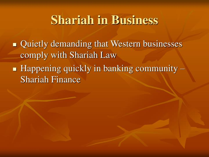 Shariah in Business