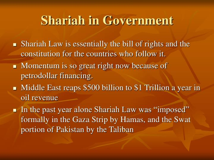Shariah in Government