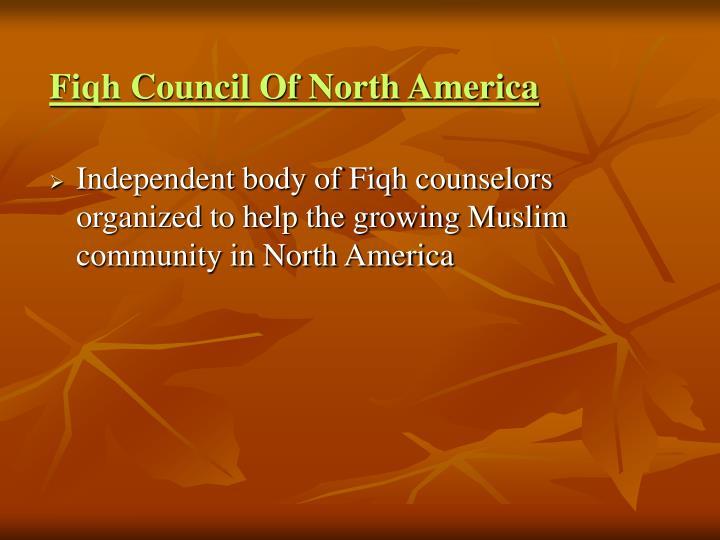 Fiqh Council Of North America