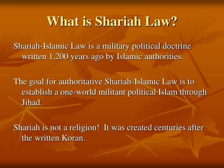 What is shariah law