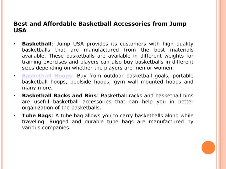 Best and Affordable Basketball Accessories from Jump USA