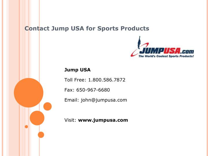 Contact Jump USA for Sports Products