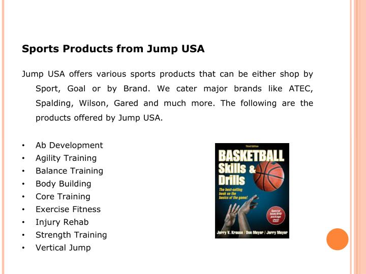 Sports Products from Jump USA