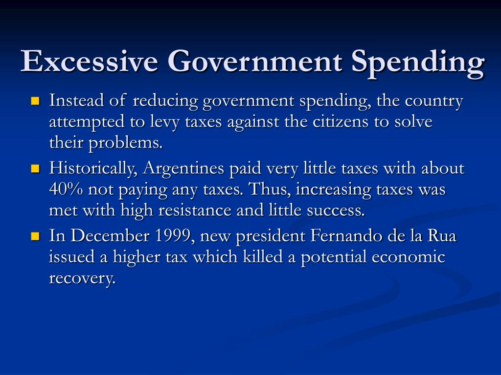 Excessive Government Spending