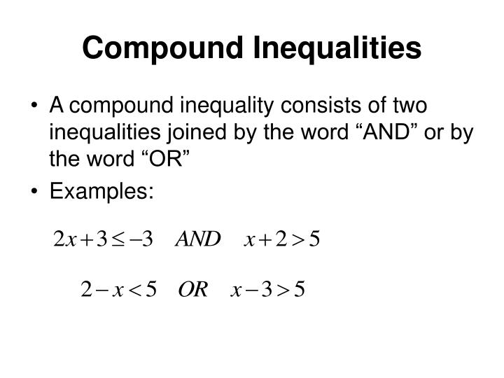 Compound Inequalities