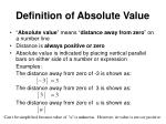 definition of absolute value