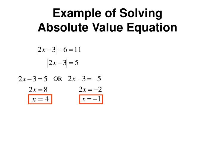 Example of Solving