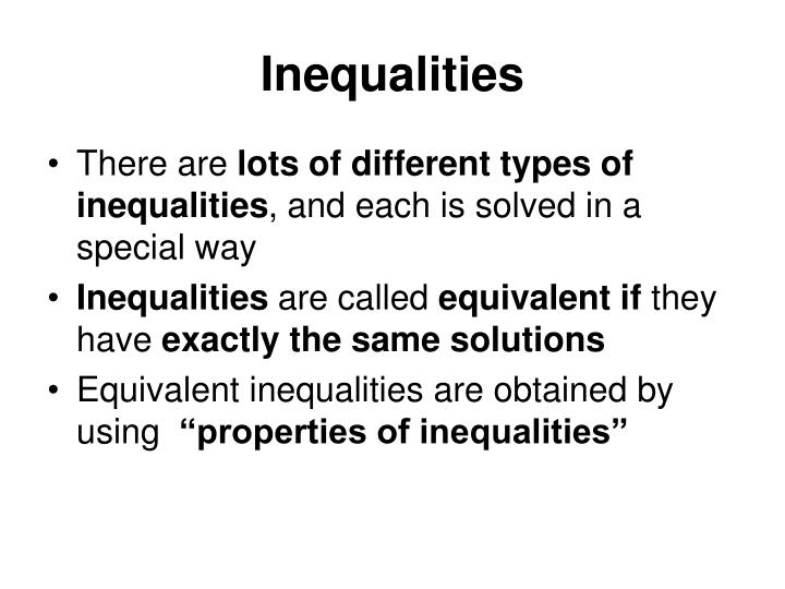 Inequalities1