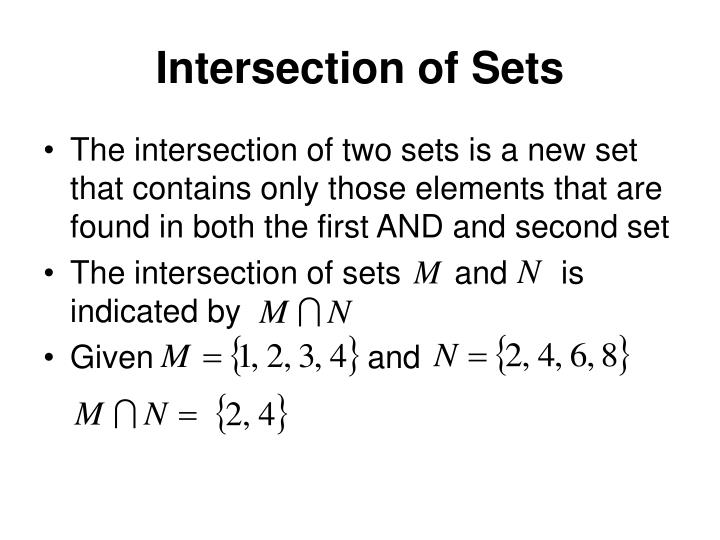 Intersection of Sets