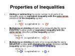 properties of inequalities