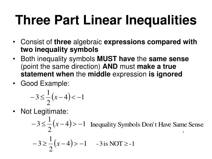 Three Part Linear Inequalities