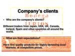 company s clients