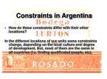 constraints in argentina10