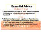essential advice