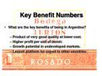 key benefit numbers