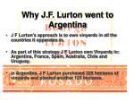 why j f lurton went to argentina